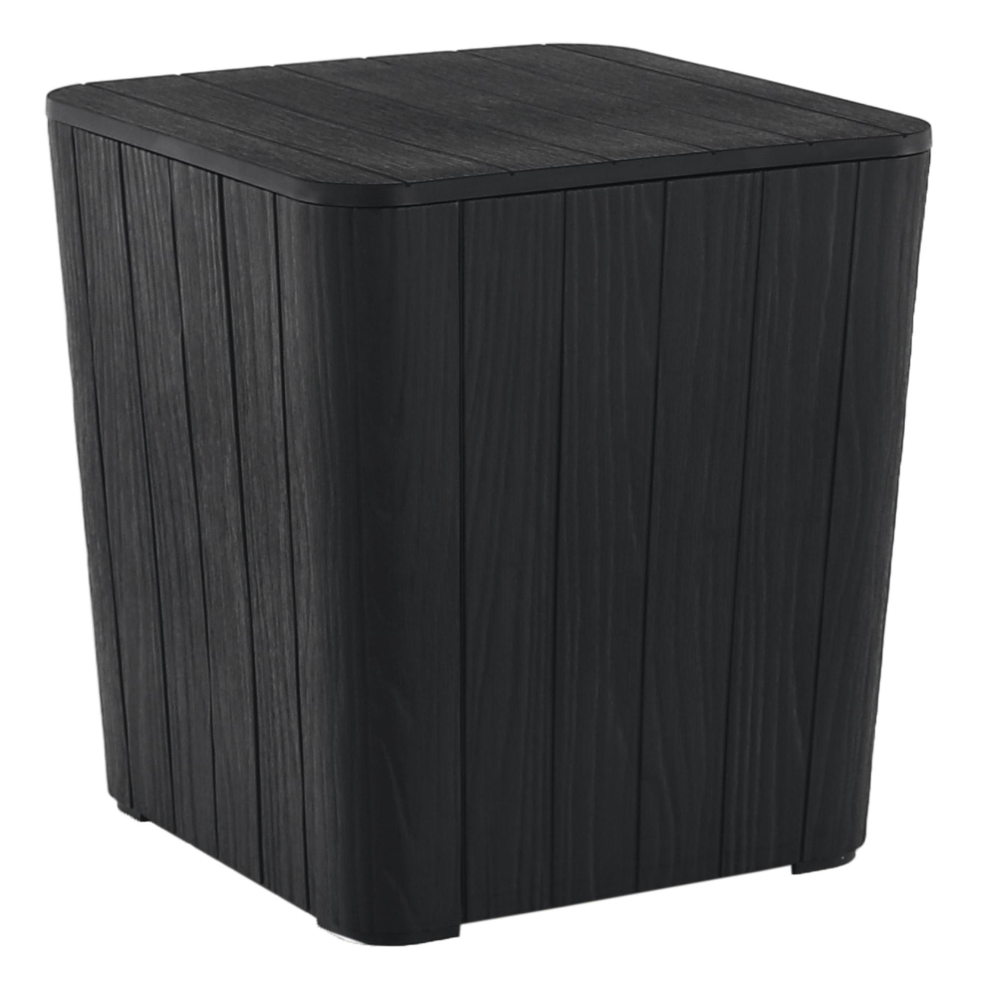 Cutie / masă de depozitare pentru grădină, neagră, IBLIS