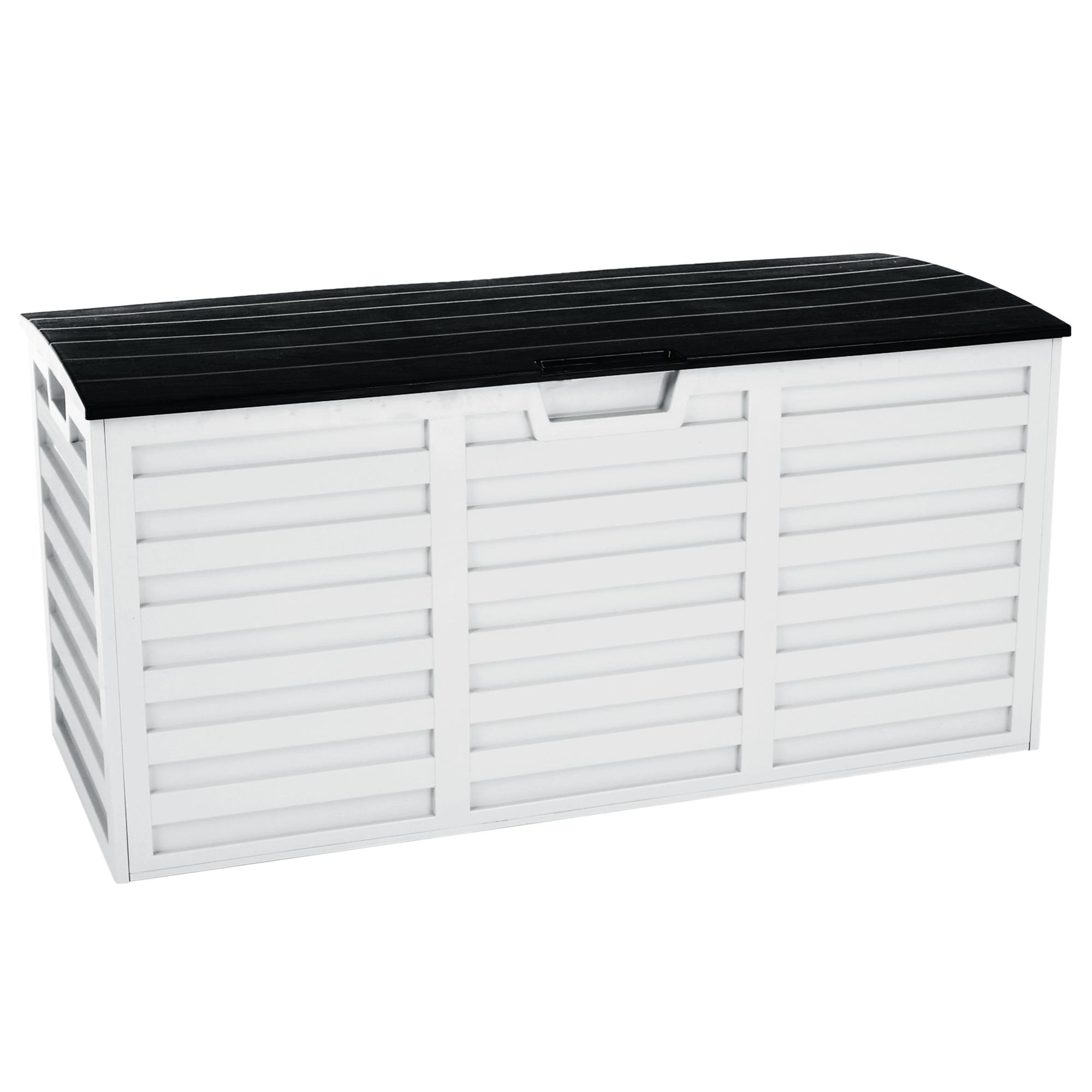 Cutie depozitare grădină, alb / negru, PADMO