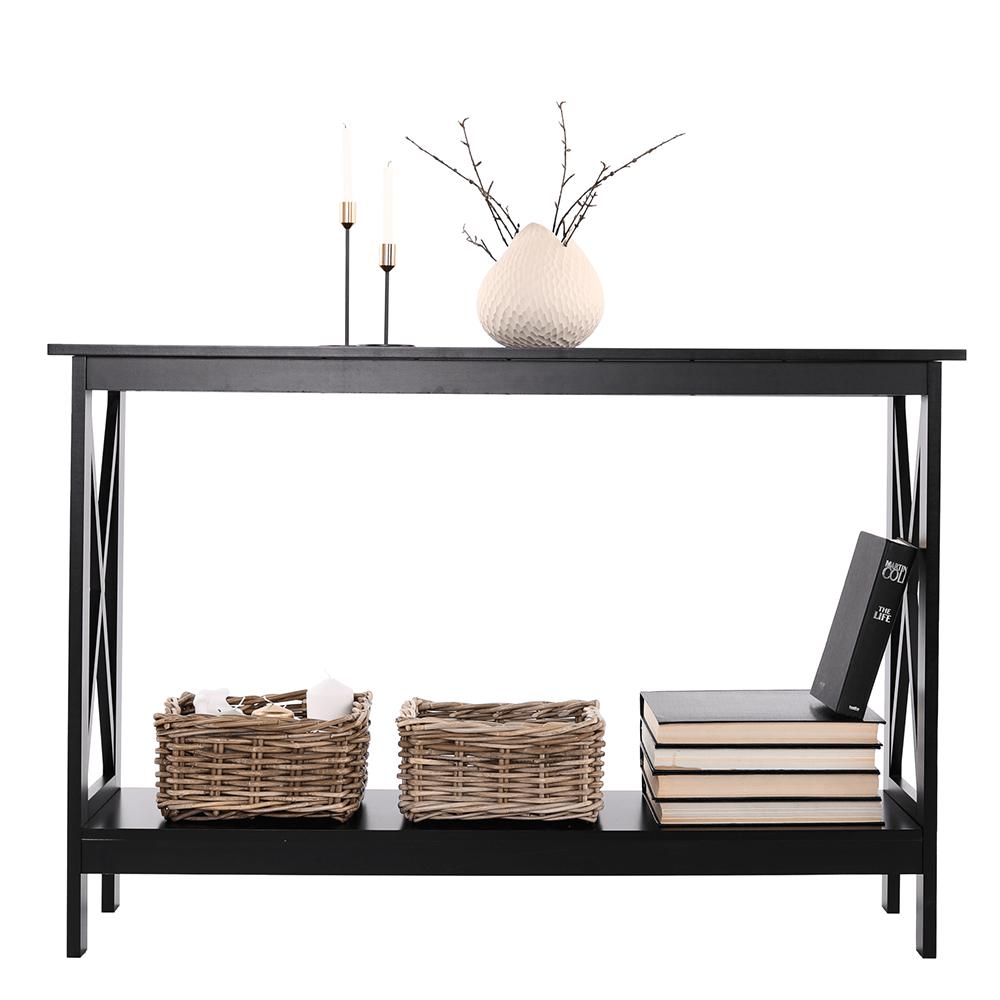 Konzolový stolík, čierna, APOLOS