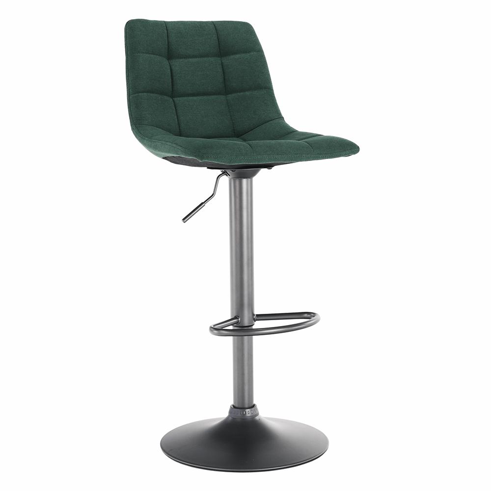 Barová stolička, zelená/čierna, LAHELA