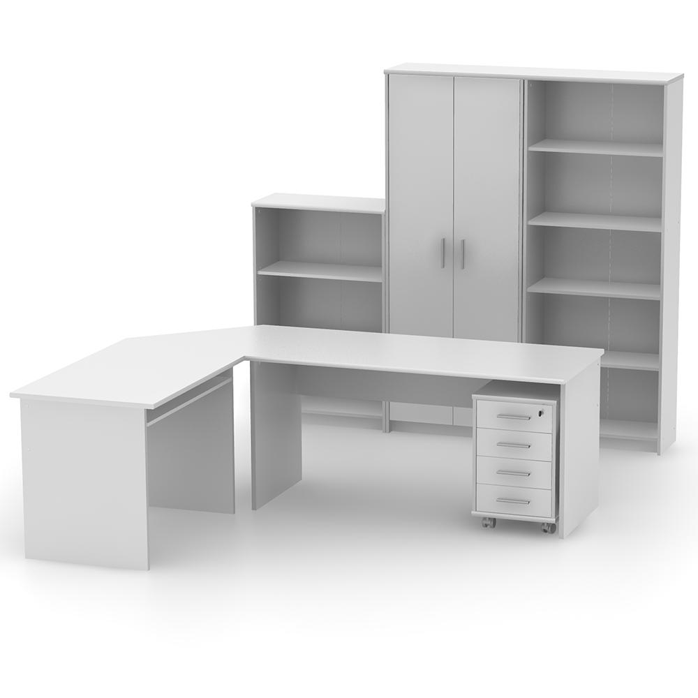 Kancelářský regál nízký, bílá, JOHAN 2 NEW 03