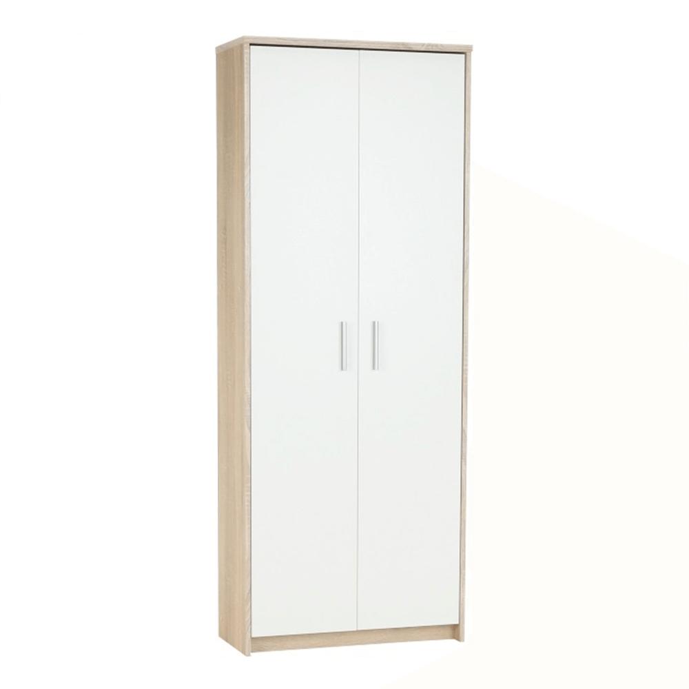 Kancelářská skříň, dub sonoma/bílá, JOHAN 2 NEW 05, TEMPO KONDELA