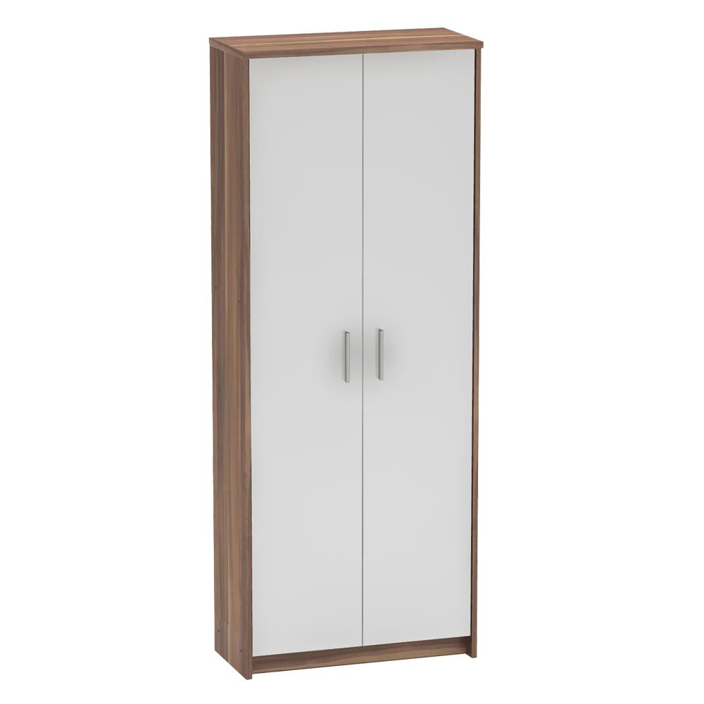 Zárt polcos szekrény, szilva/fehér, JOHAN 2 NEW 05