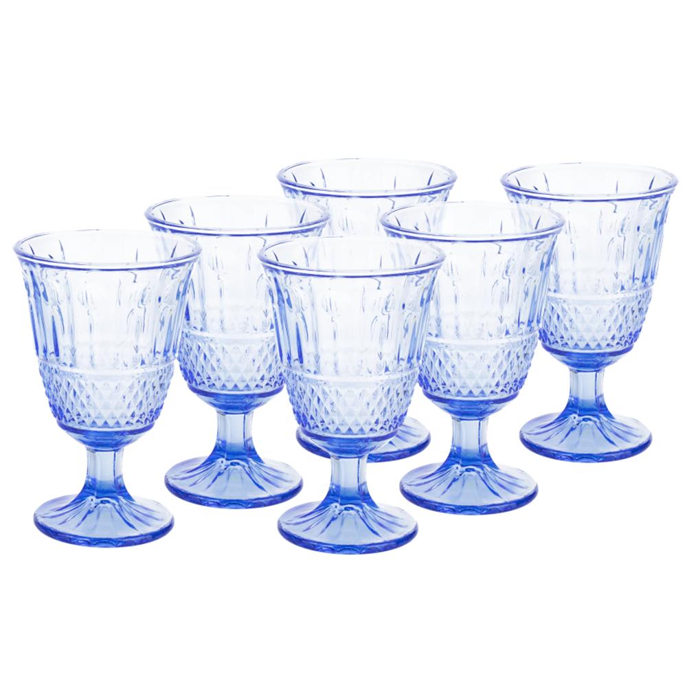 Set de pahare de vin, 6buc, 220 ml, albastru, LEGACY