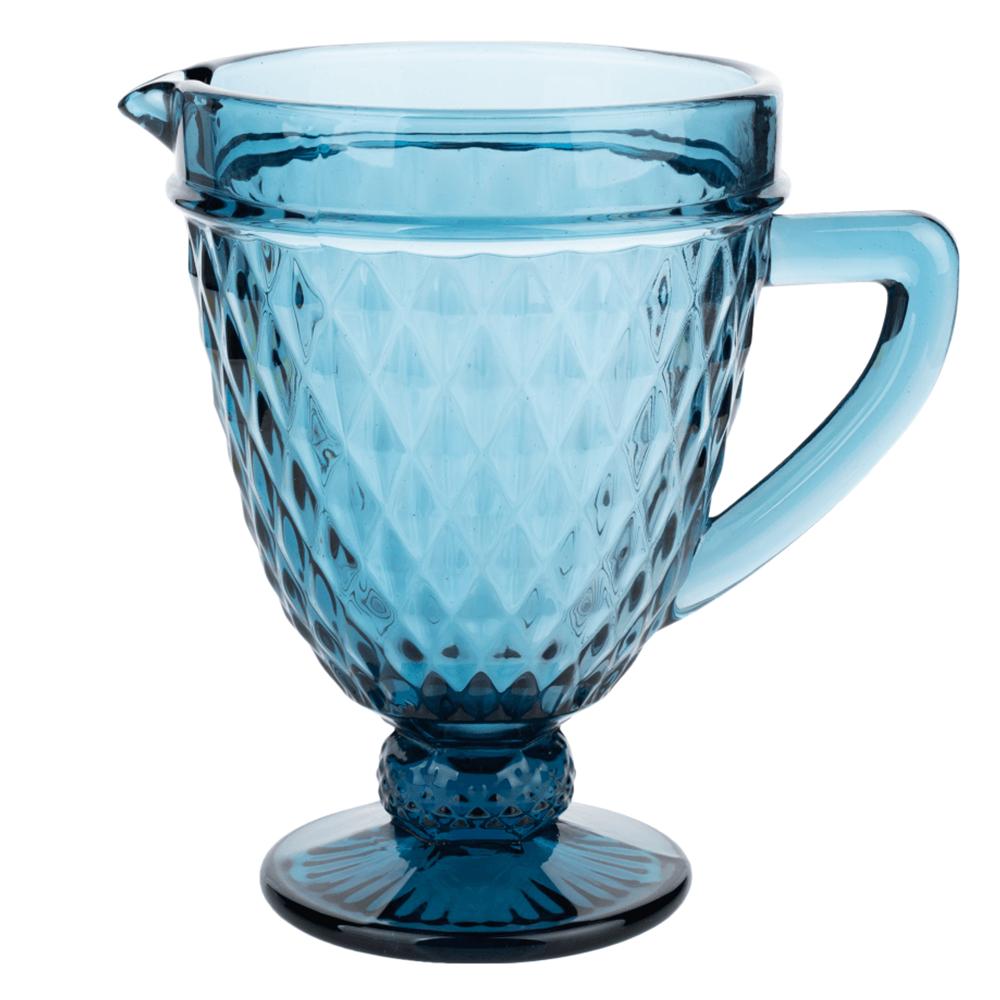 Retro džbán na vodu/na víno, 1150ml, modrá, VERITAS
