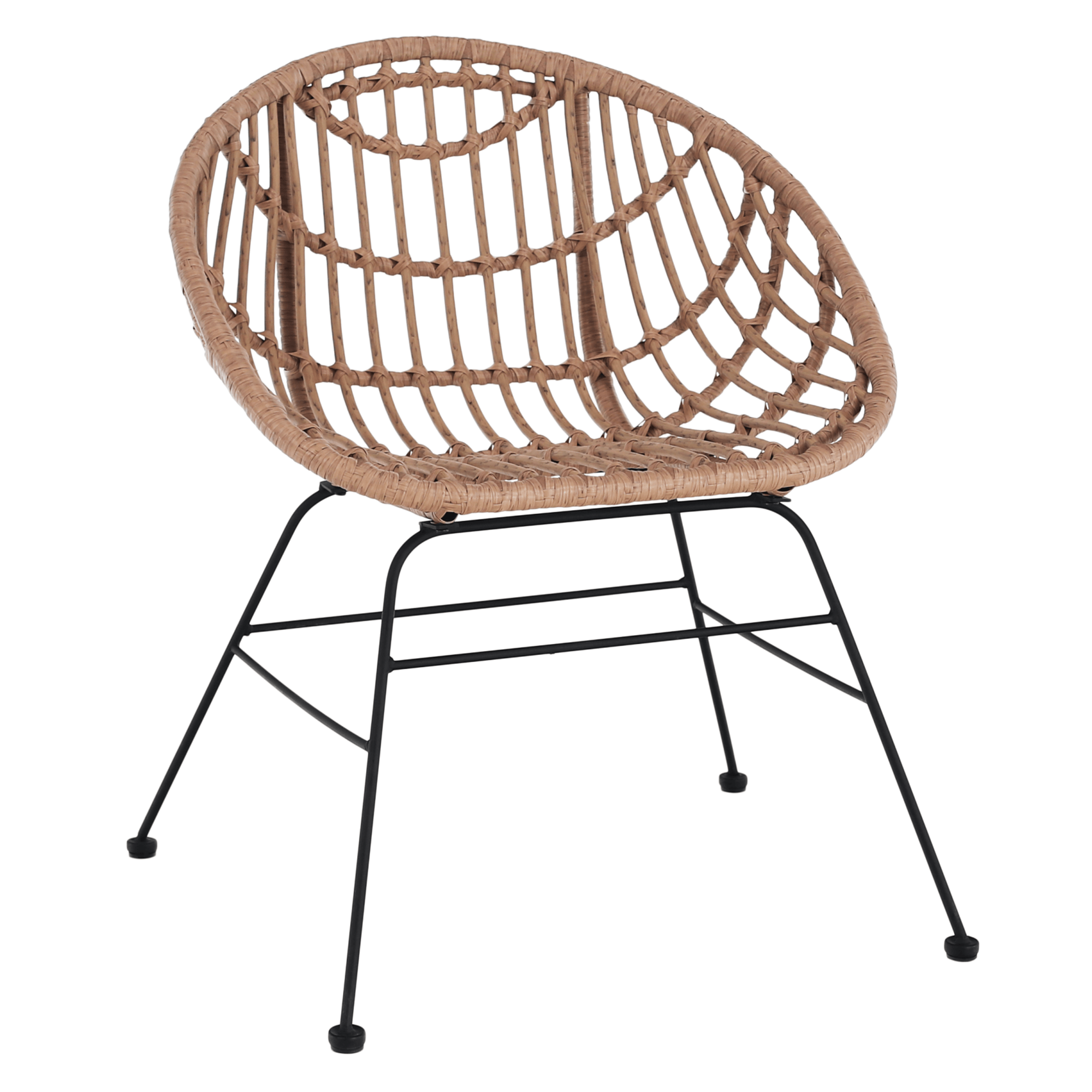Kerti szék, természetes/fekete, LAIRD