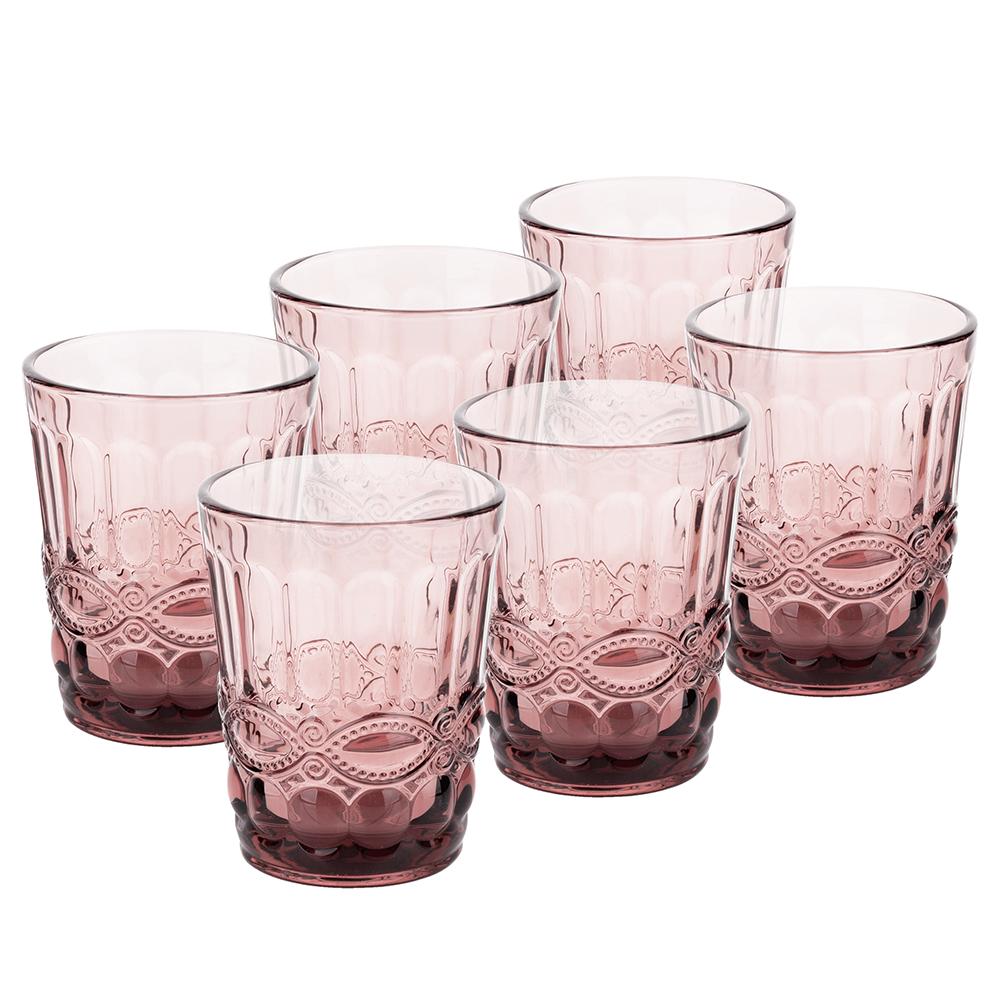 Set de pahare de apă, 6buc, 240 ml, roz, FREGATA TYPE 2