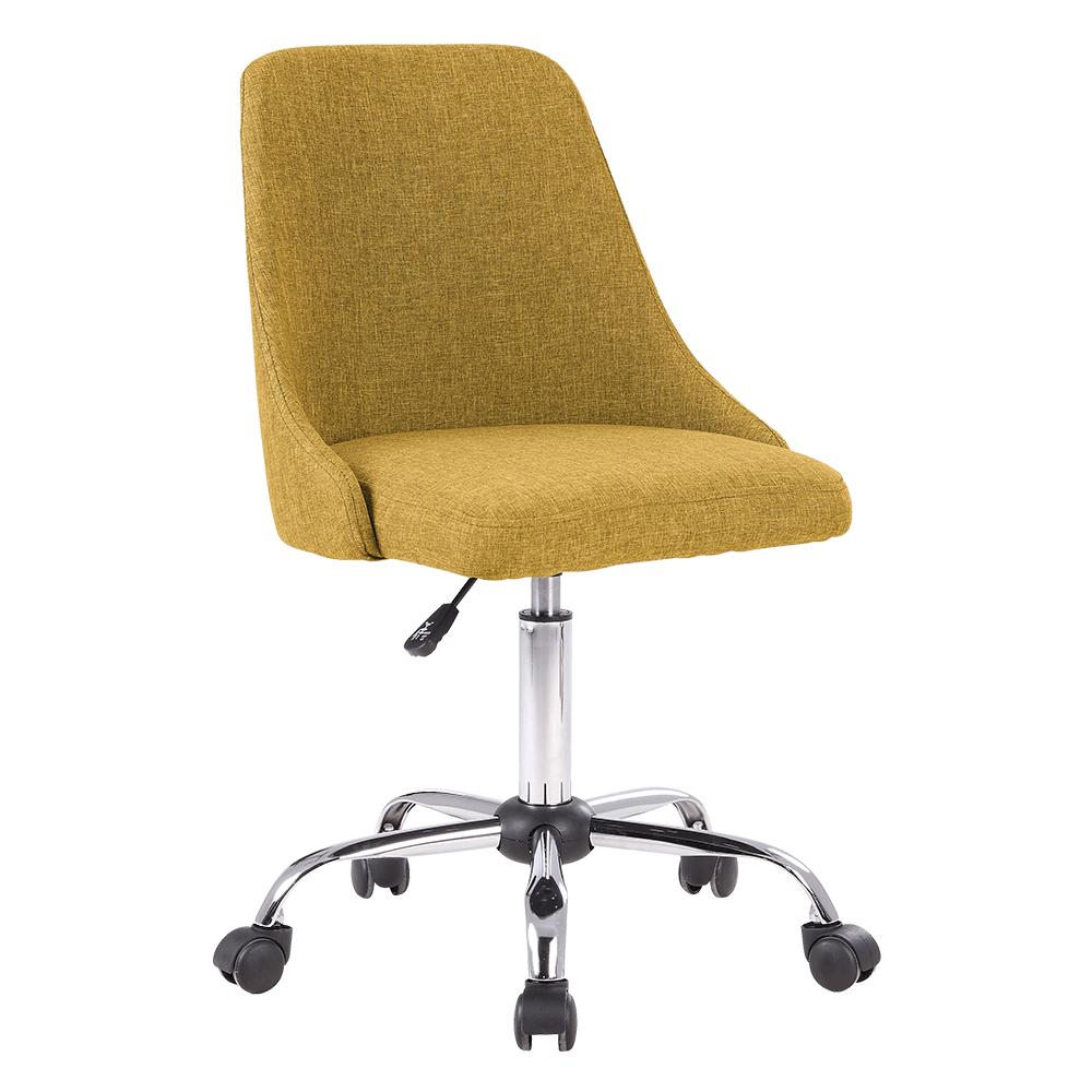 Kancelárska stolička, žltá/chróm, EDIZ