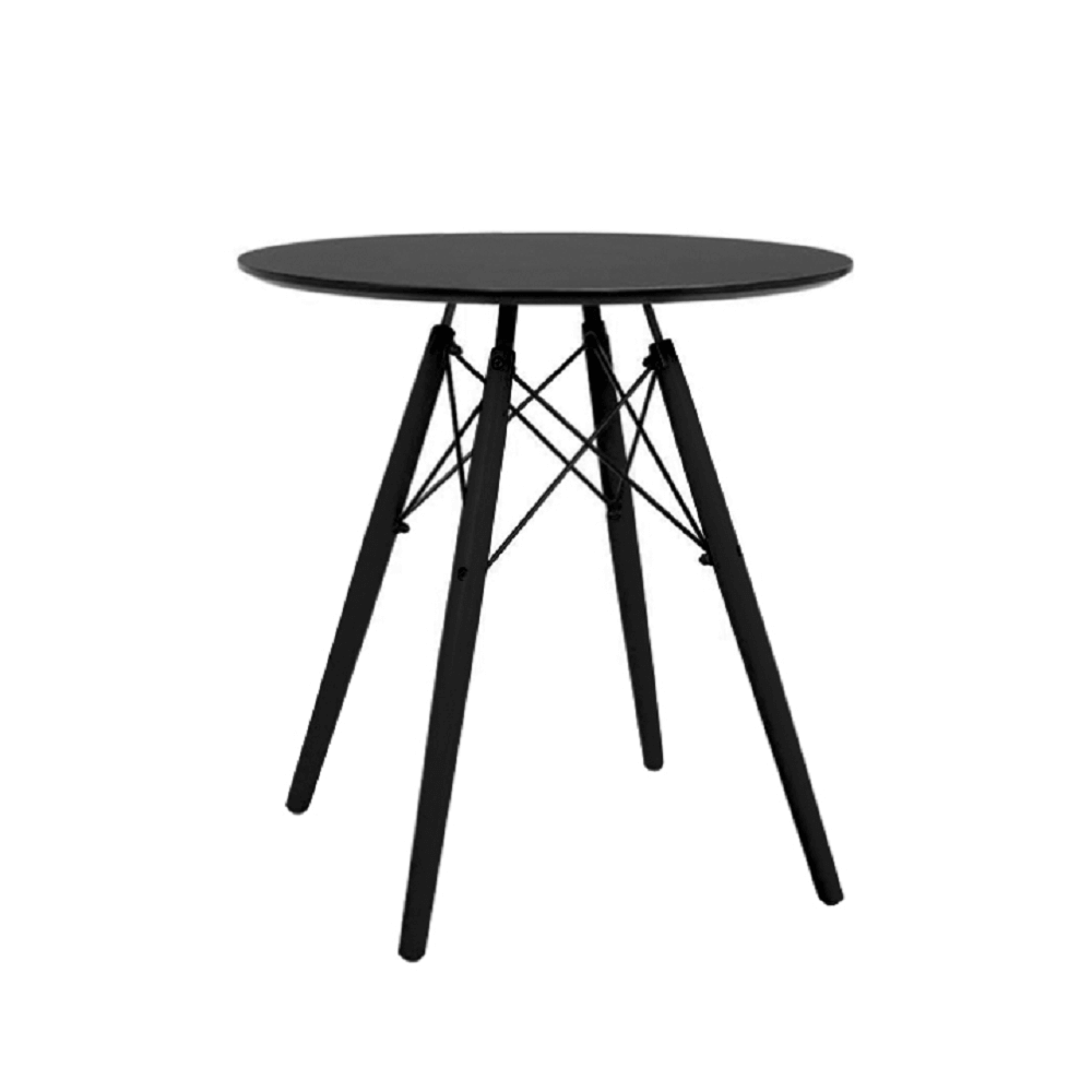 Okrúhly jedálenský stôl, čierna, MONTY, poškodený tovar