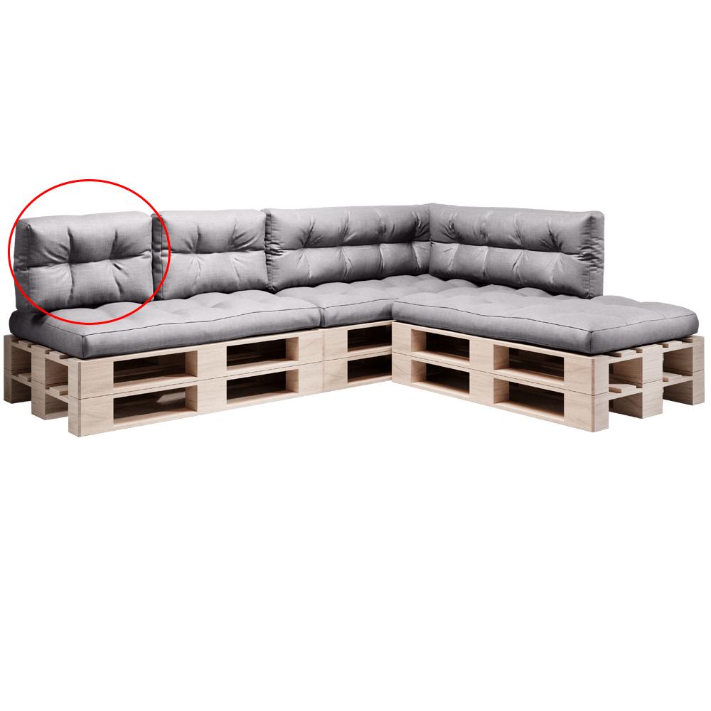 Pernă pentru mobilier din paleţi, gri, ANIKA TYP 3