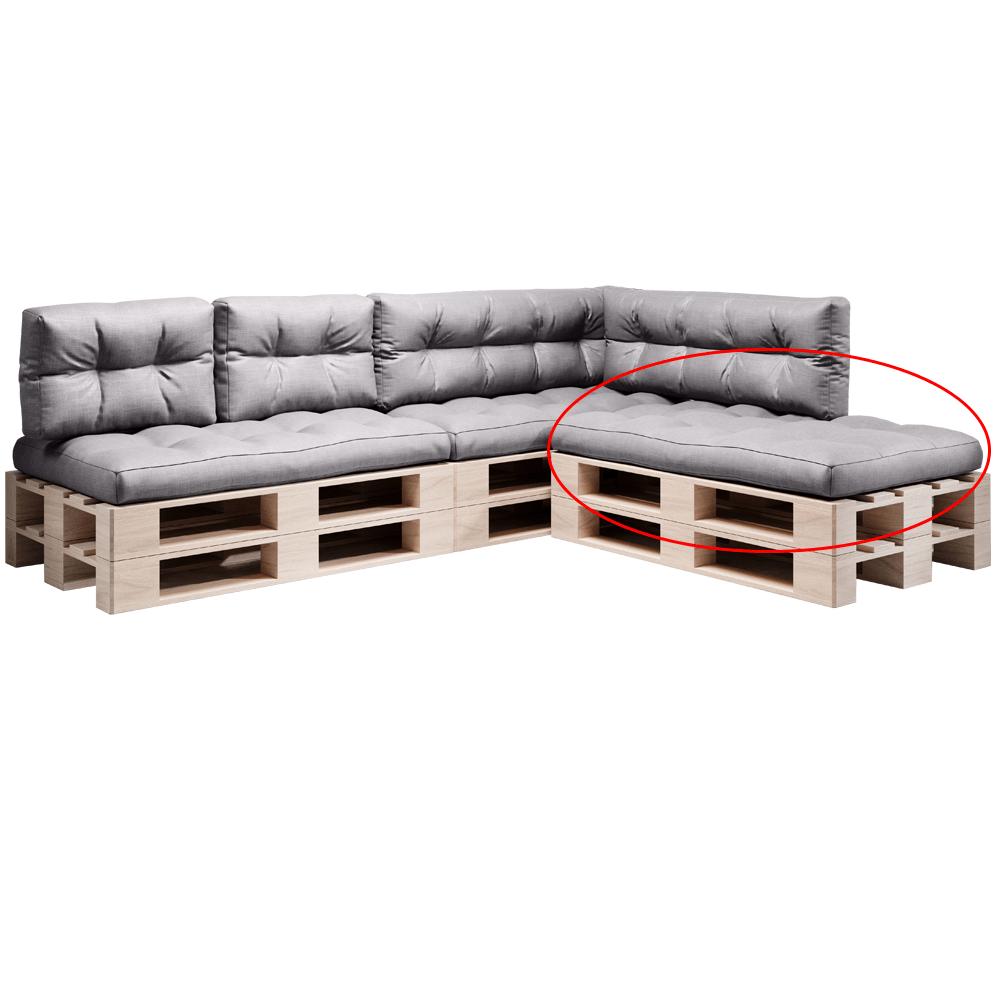 Pernă pentru mobilier din paleţi, gri, ANIKA TYP 1
