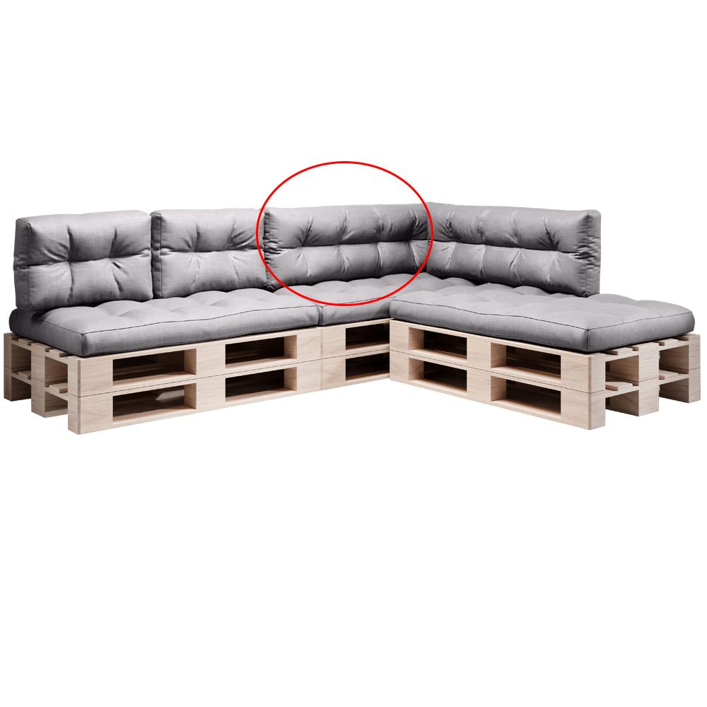 Pernă pentru mobilier din paleţi, gri, ANIKA TYP 2