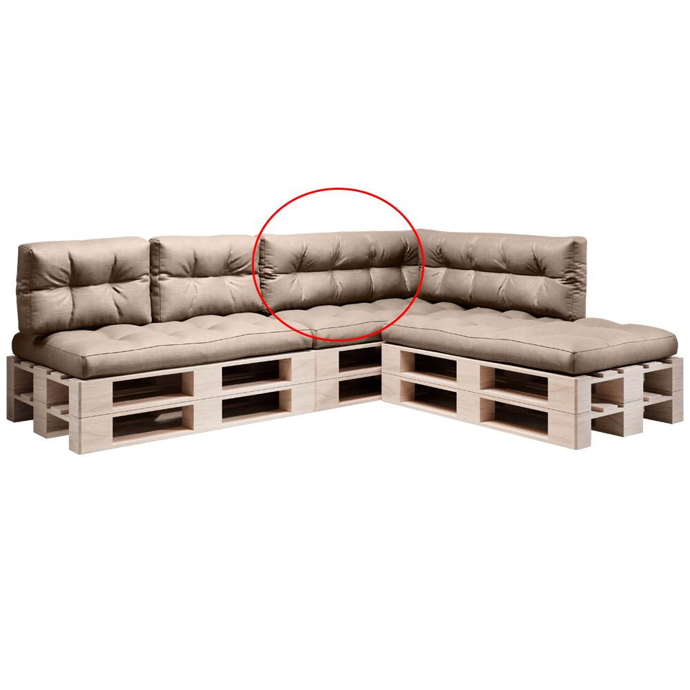 Pernă pentru mobilier din paleţi, maro, ANIKA TYP 2