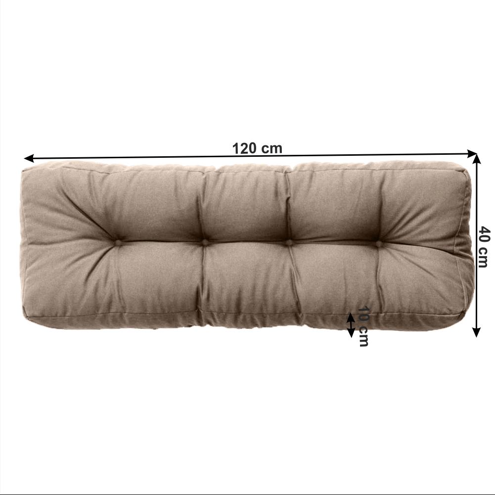 Polštář na paletové sezení, hnědá, ANIKA TYP 2