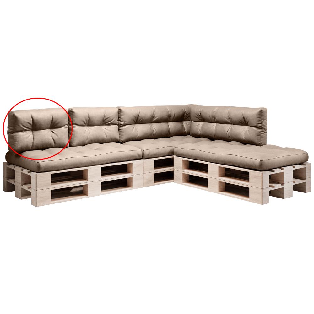 Pernă pentru mobilier din paleţi, maro, ANIKA TYP 3