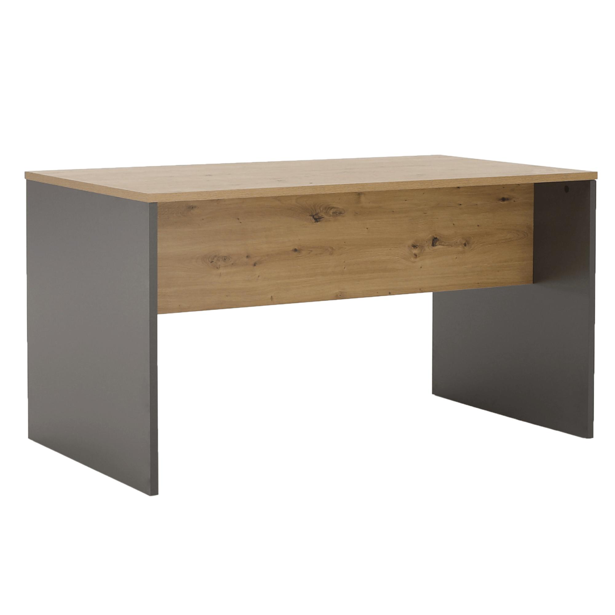 Masă de birou, grafit/stejar artisan, RIOMA NEW TYP 16
