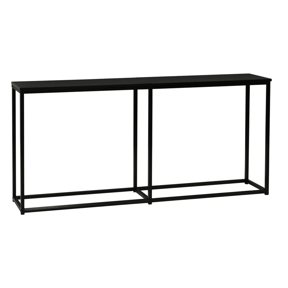 Konzolový stolík v industriálnom štýle, tmavosivá grafit/čierna, BUSTA