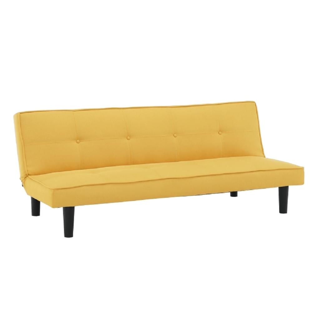 Kinyitható kanapé, mustár/fekete, ZELDA NEW