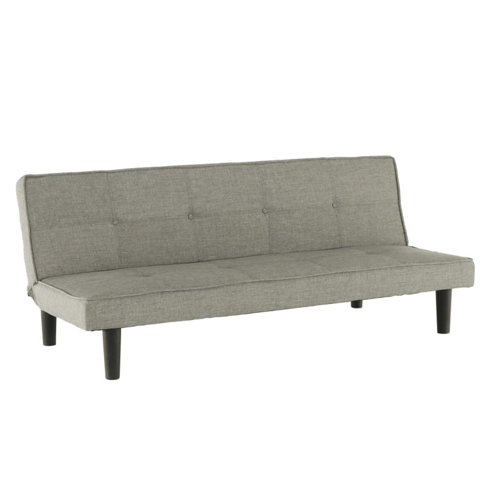 Kinyitható kanapé, szürke/fekete, ZELDA NEW