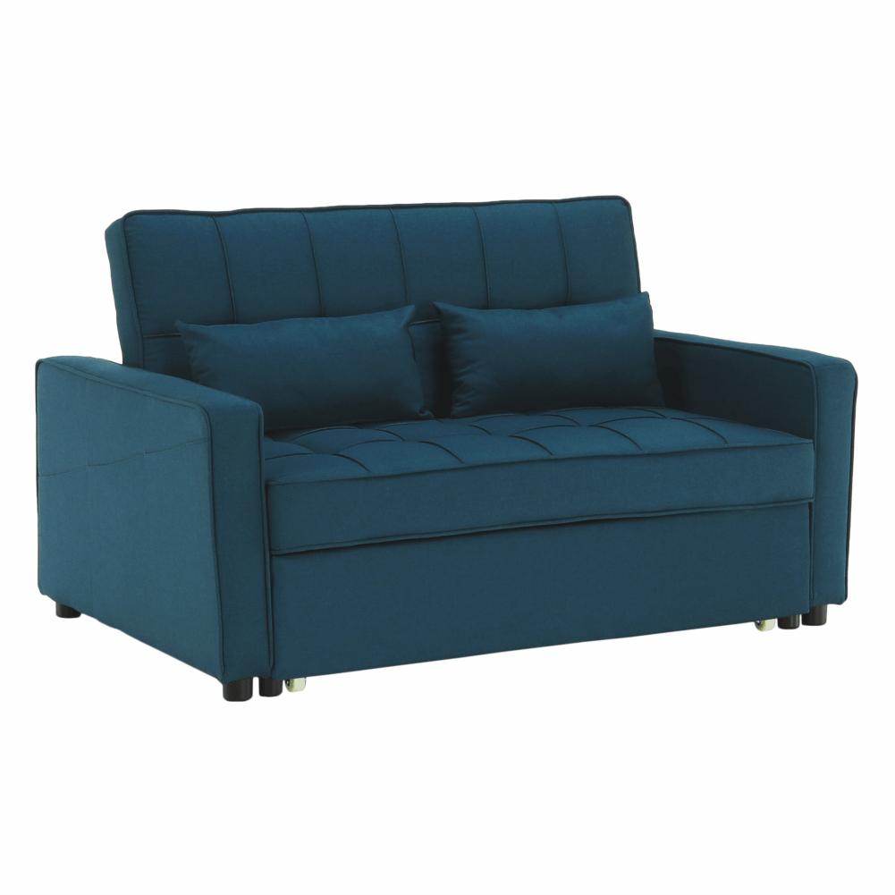 Kinyitható kanapé, türkiz, FRENKA BIG BED NEW