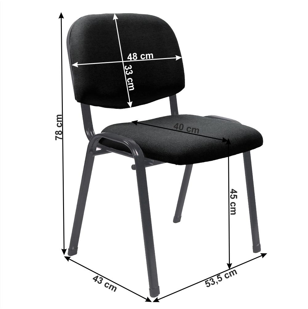 Kancelářská židle, černá, ISO 2 NEW