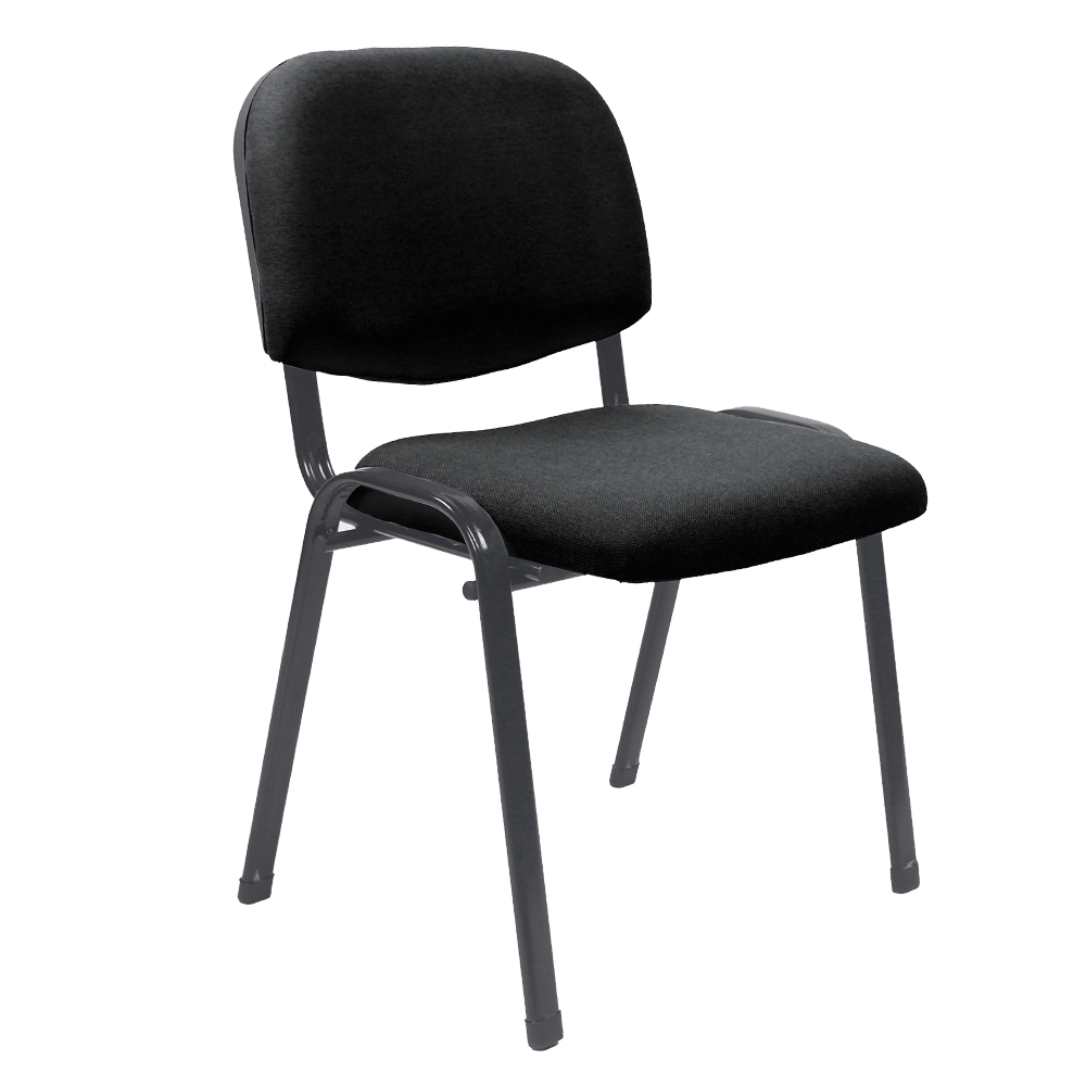 Kancelárska stolička, čierna, ISO 2 NEW