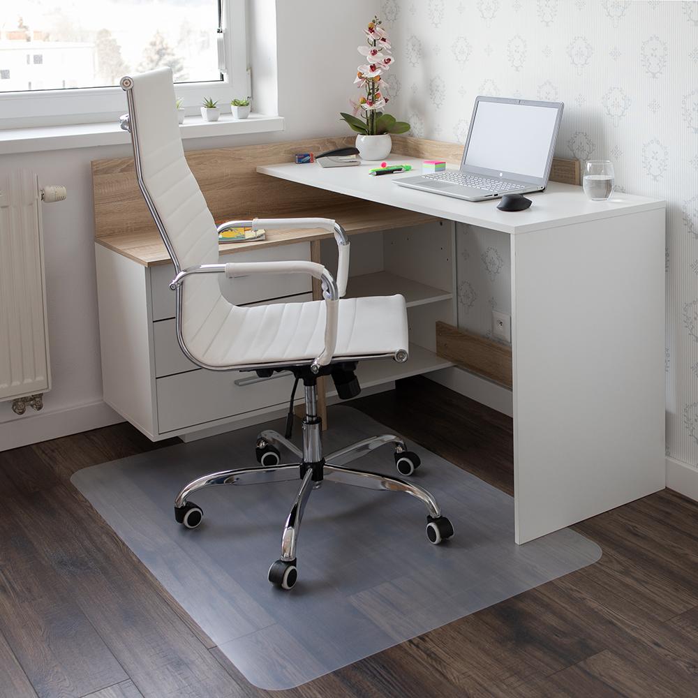 Ochranná podložka pod stoličku, transparentná, 120x90 cm, 0,5 mm, ELLIE NEW TYP 2