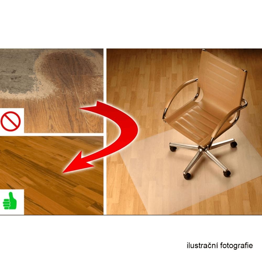 Ochranná podložka pod židli, transparentní, 140x100 cm, 0, 8 mm, ELLIE NEW TYP 4