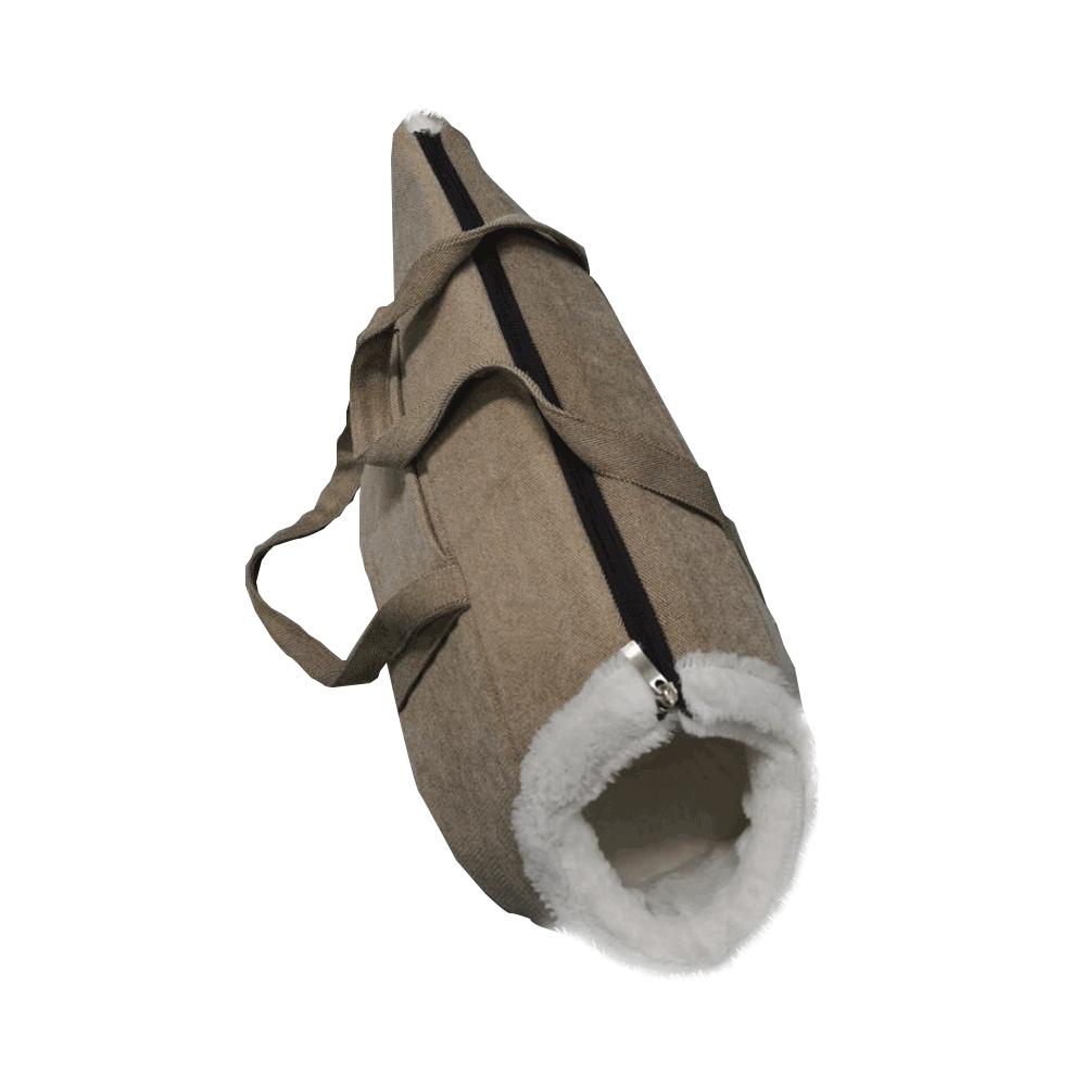 Taška pro psa, velká, šedobéžová, 50x30x30cm, Manik typ2