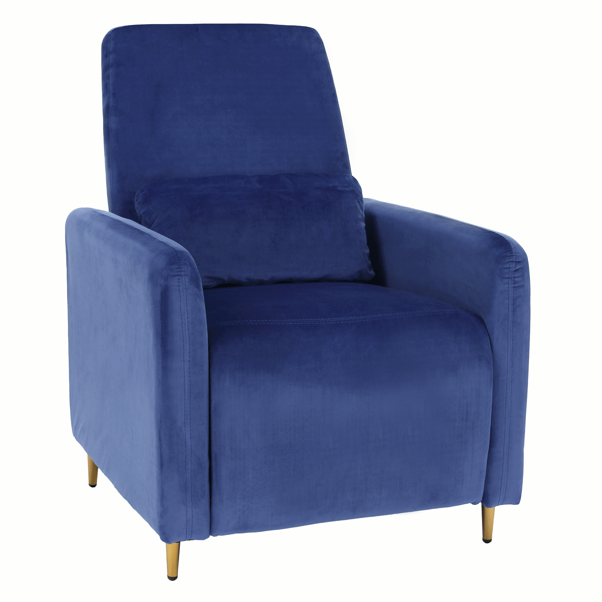 Relaxačné polohovacie kreslo, modrá Velvet látka, NAURO