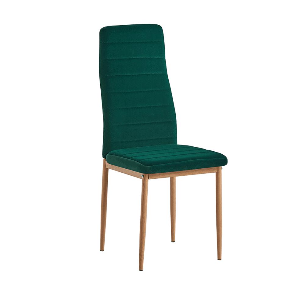 Szék, smaragd Velvet szövet/tölgy, COLETA NOVA