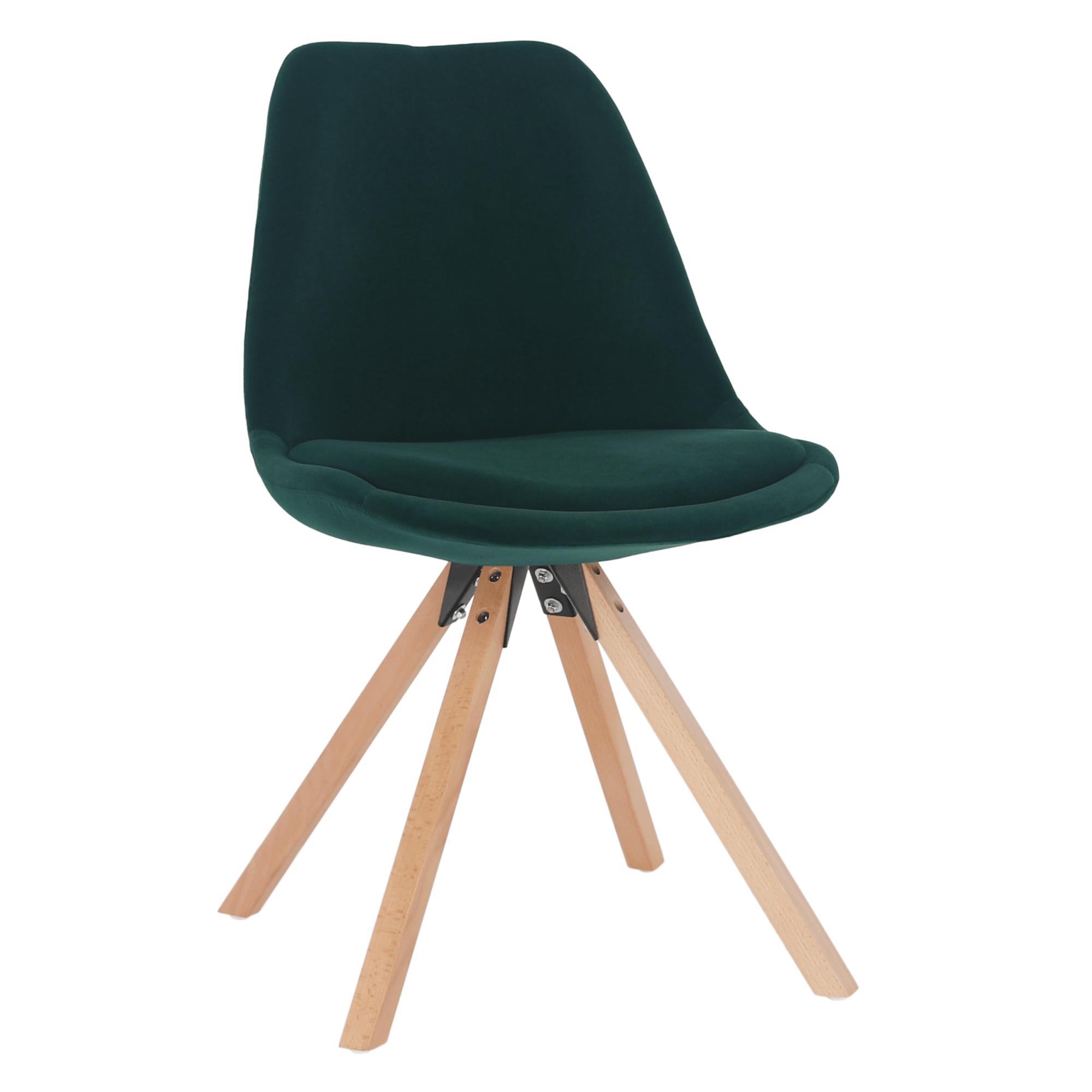 Stolička, smaragdová Velvet látka/buk, SABRA