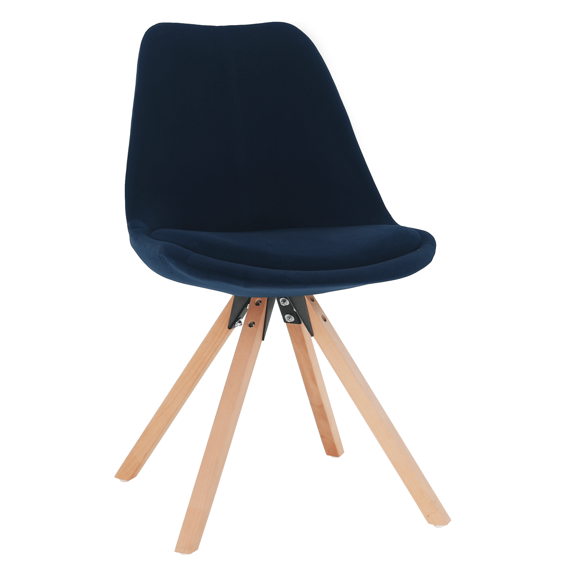 Stolička, modrá Velvet látka/buk, SABRA