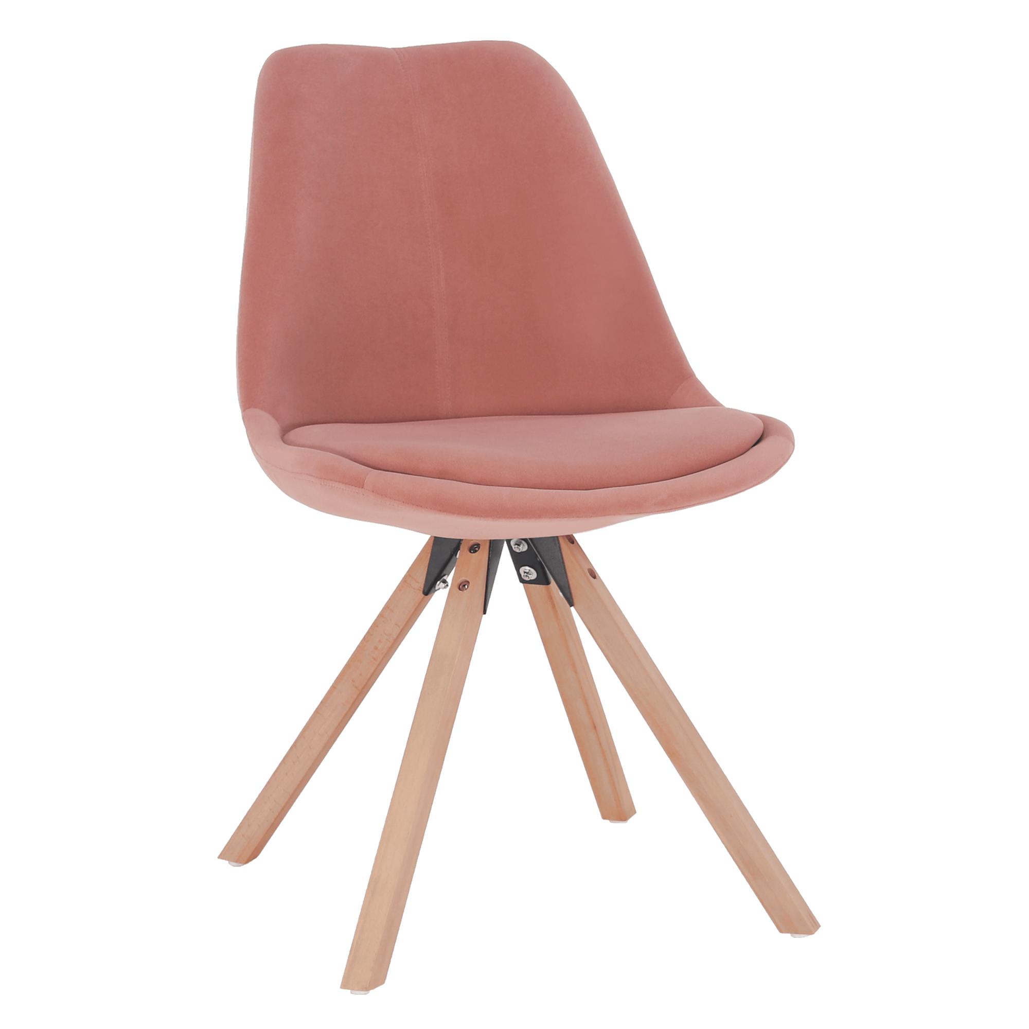 Stolička, ružová Velvet látka/buk, SABRA