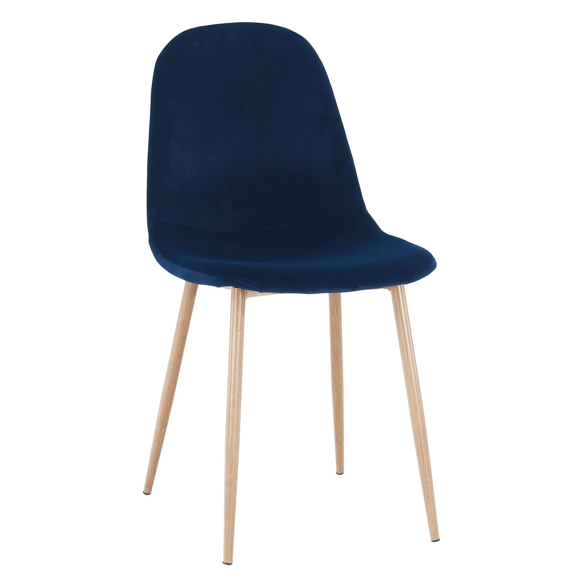 Stolička, modrá Velvet látka/buk, LEGA
