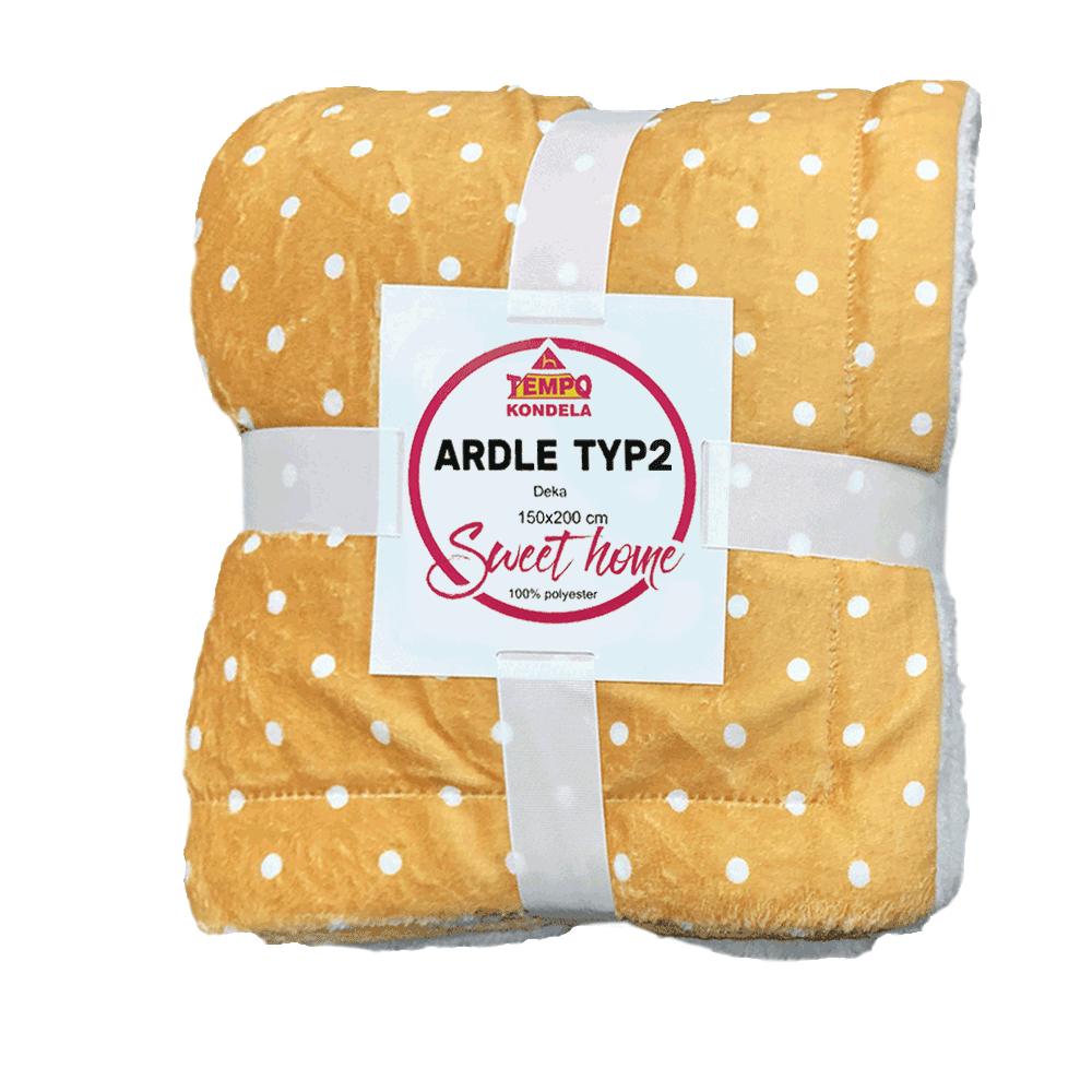 Pătură moale cu două feţe, bej / punctat, 150x200cm, ARDLE TYPE 2