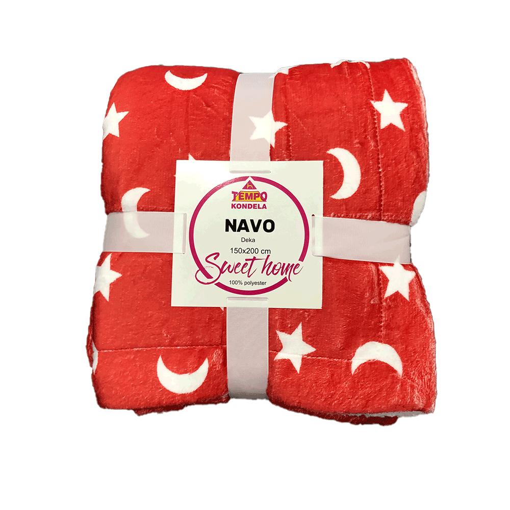 Kétoldalas bárány takaró, oxy fire piros/fehér/minta, 150x200, NAVO