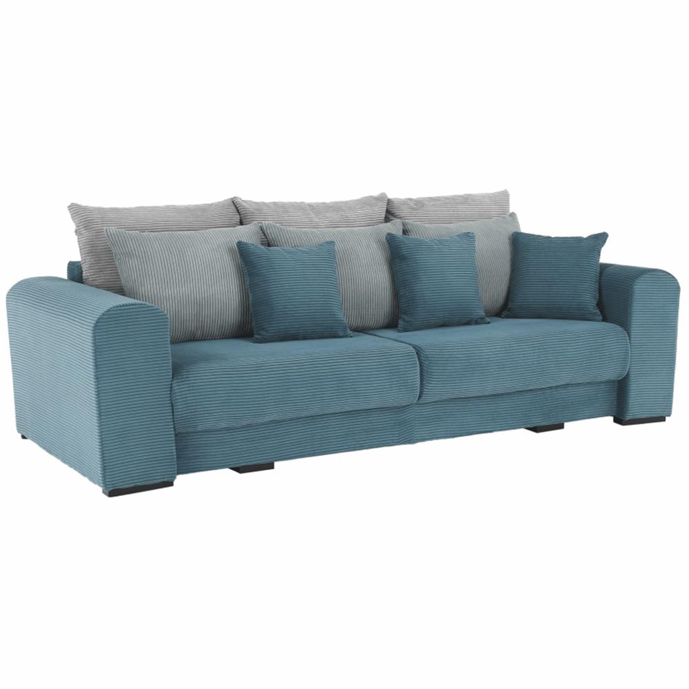Extra tágas kanapé, kék, menta, világosszürke színű, GILEN BIG SOFA