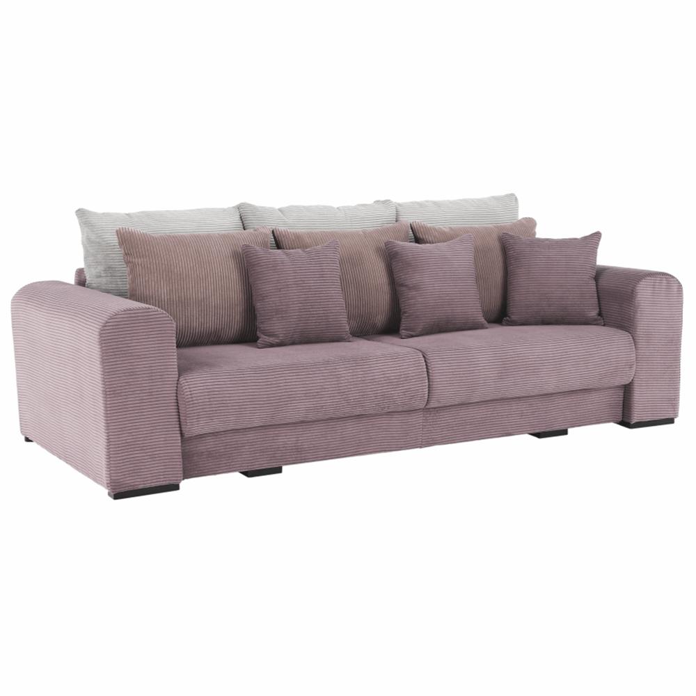 Canapea foarte spaţioasă, violet, roz învechit, bej, GILEN BIG SOFA