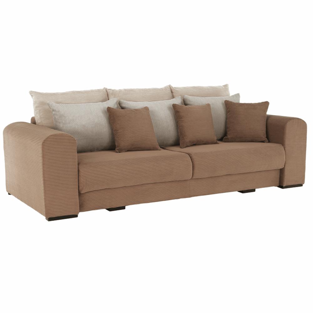 Canapea foarte spaţioasă, maro deschis, bej, crem, GILEN BIG SOFA