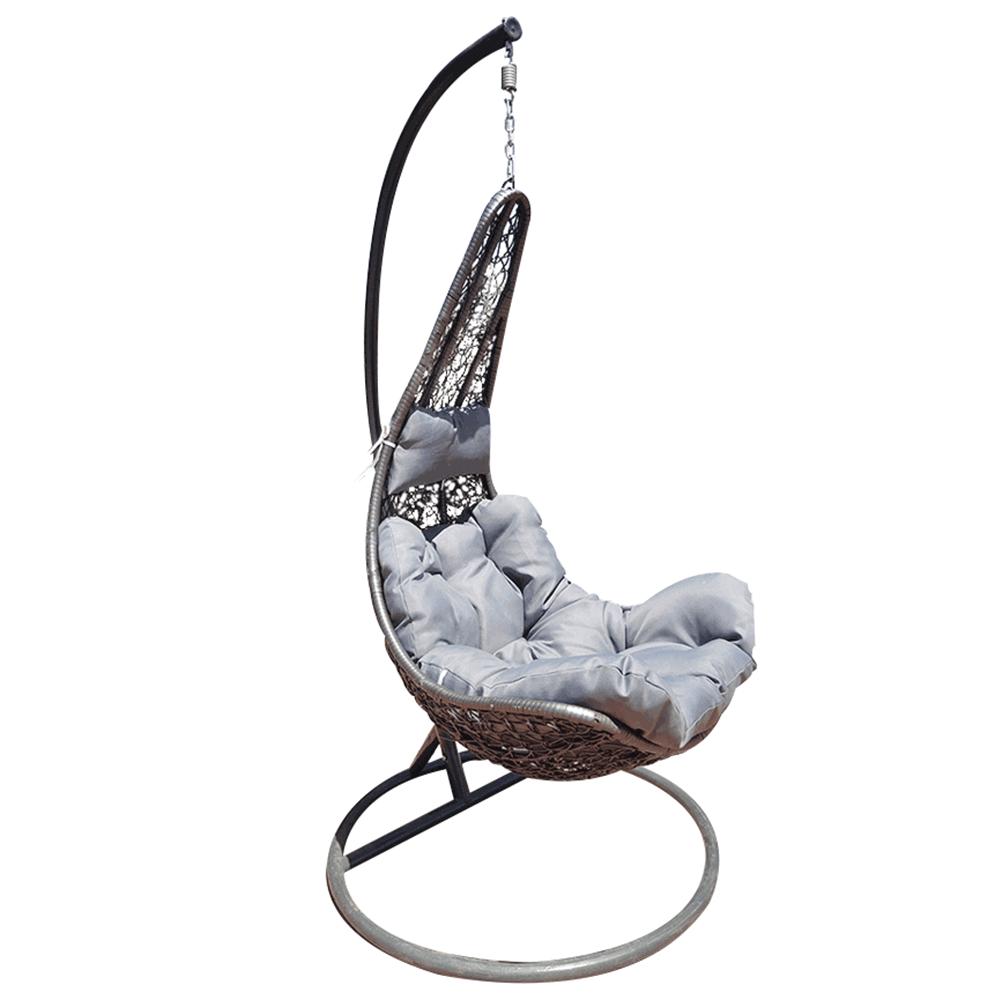 Függő fotel, szürke/világos szürke, KALEA 2 NEW