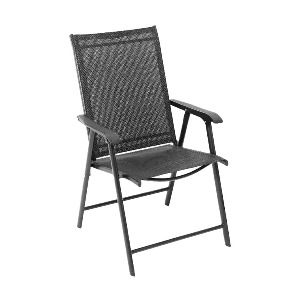 Összecsukható kerti szék, fekete, Adola
