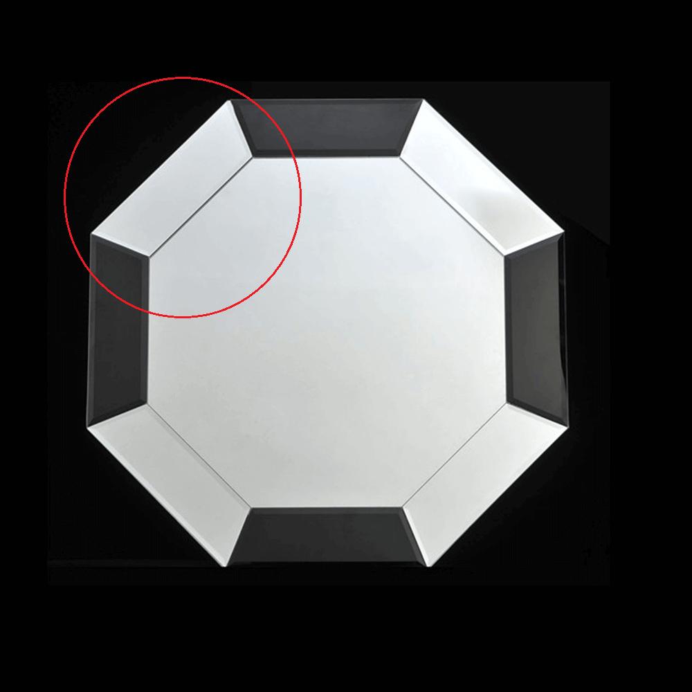 Zrkadlo, čierna/biela, ELISON TYP 14, poškodený tovar
