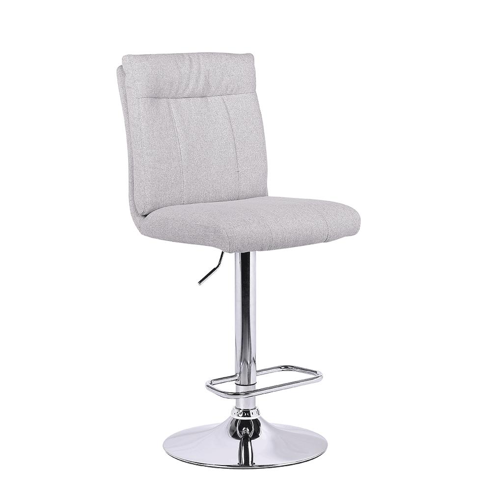 Barová stolička, látka béžová/strieborná, ANGUS