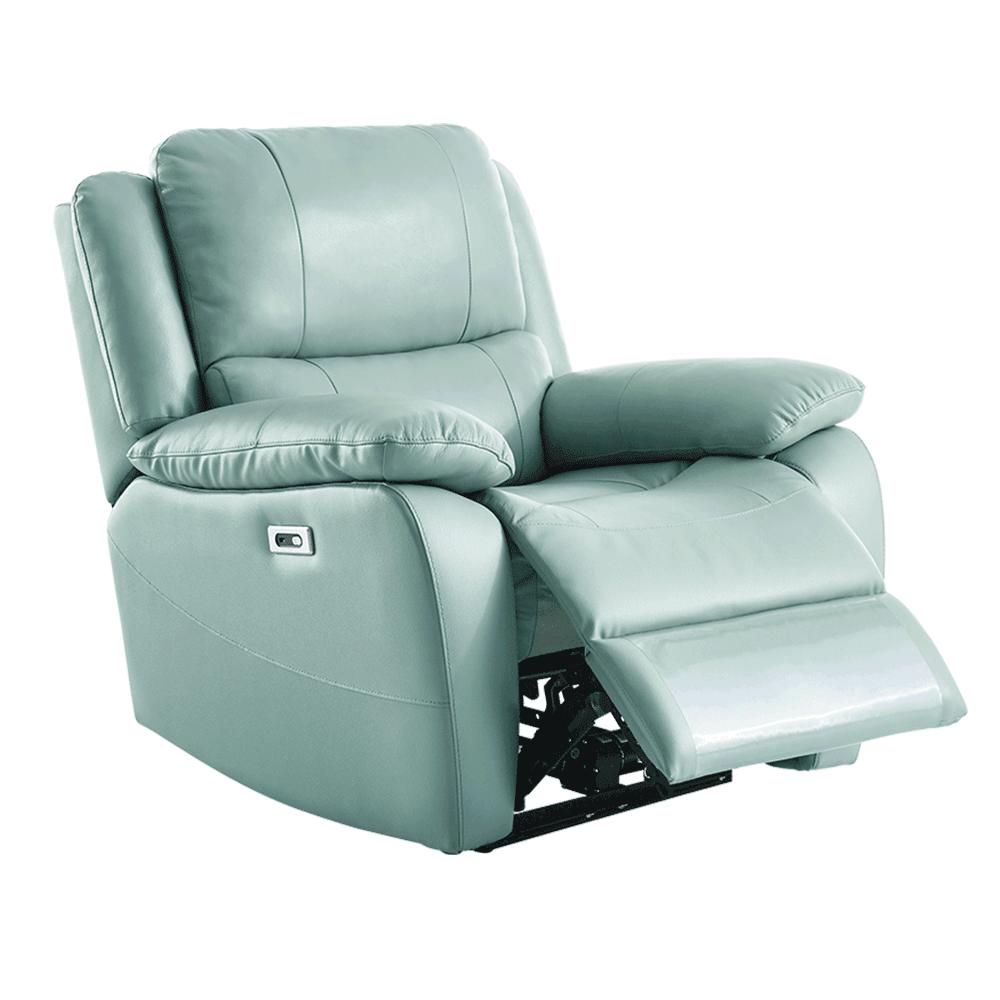 Elektromos relaxációs fotel, bőr/ekobőr neomint, VIVAN