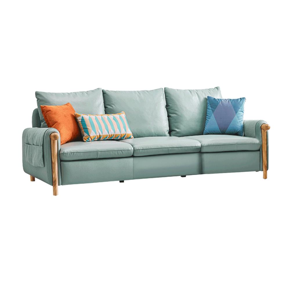 Canapea complet tapiţată 3 locuri, piele / piele ecologică neomint, LINSY