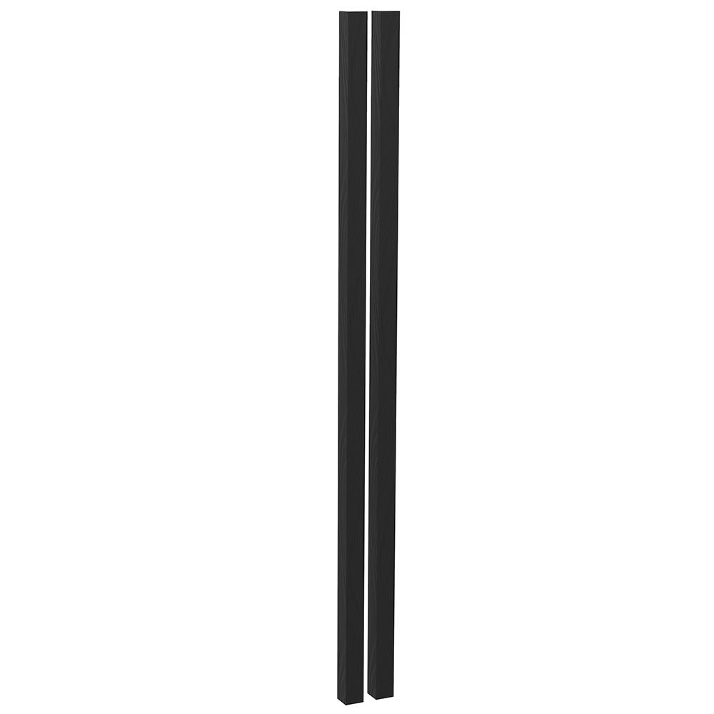 Tijă suport pentru plante, set 2 buc., lemn / negru, HOMS