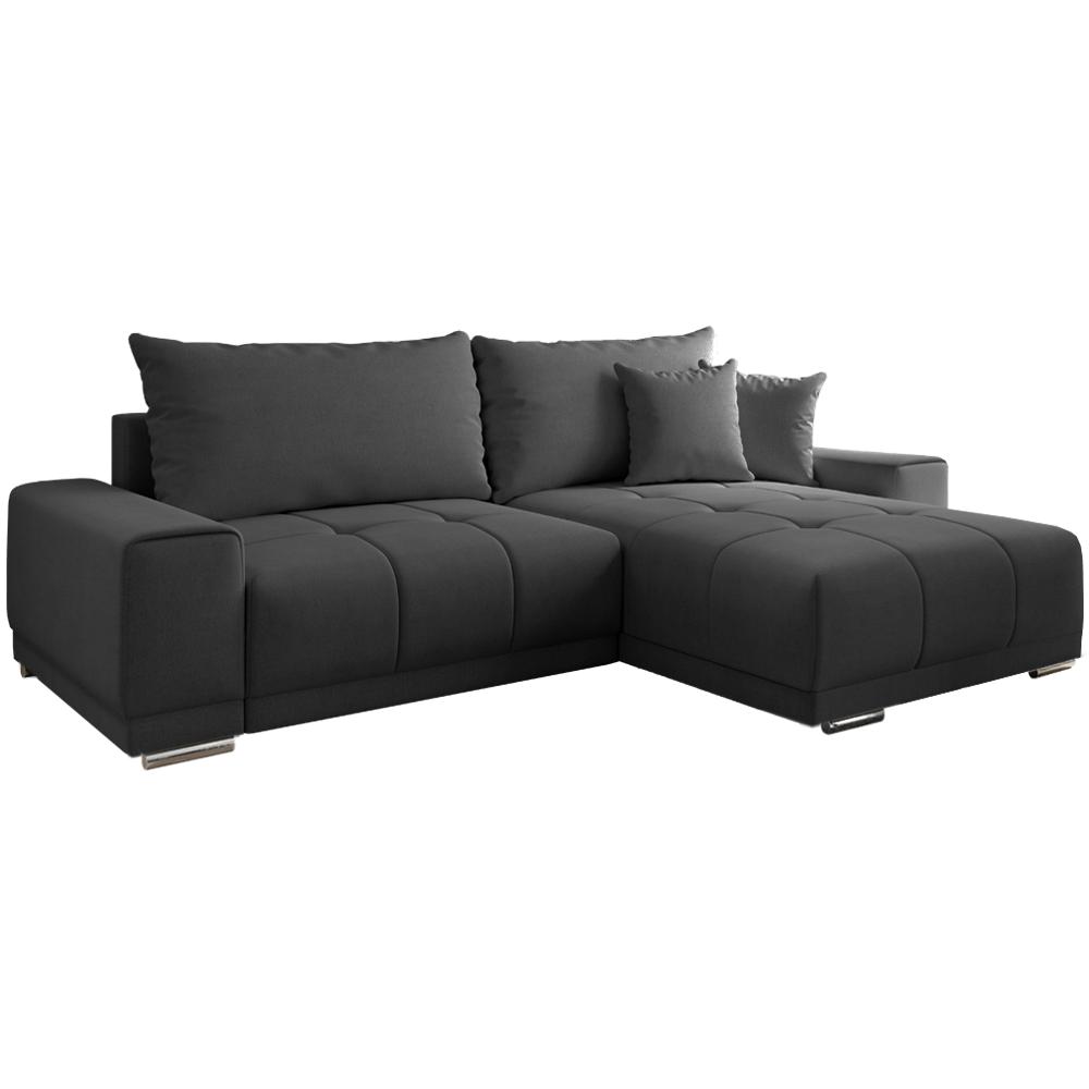 Univerzální sedací souprava, tmavě šedá, Kevan ROH, TEMPO KONDELA