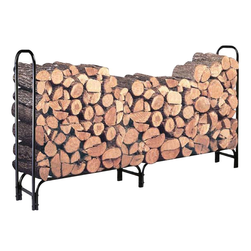 Stojan na drevo z kovaného železa, čierny, RANOL