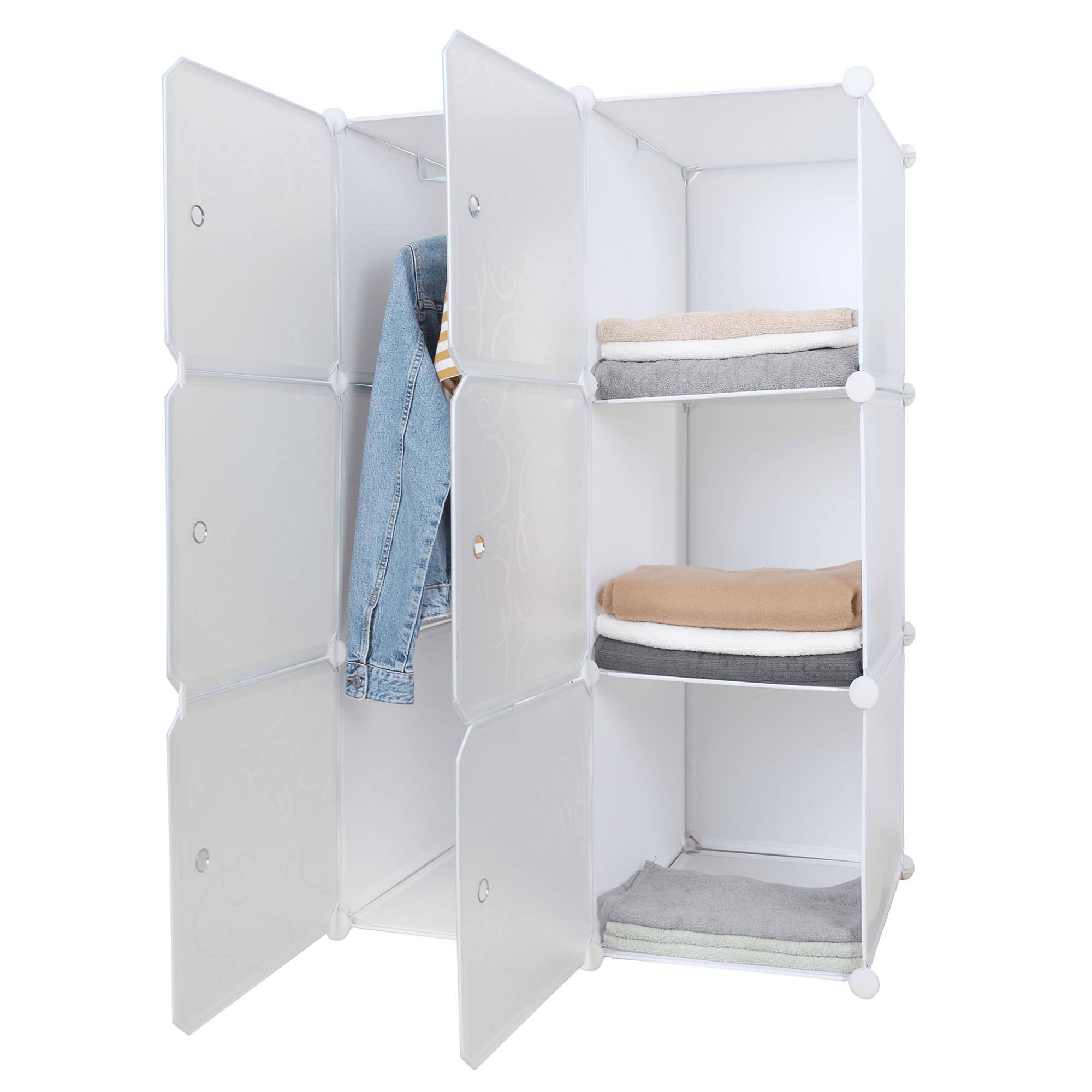 Praktická modulárna skriňa, biela/vzor, ZERUS